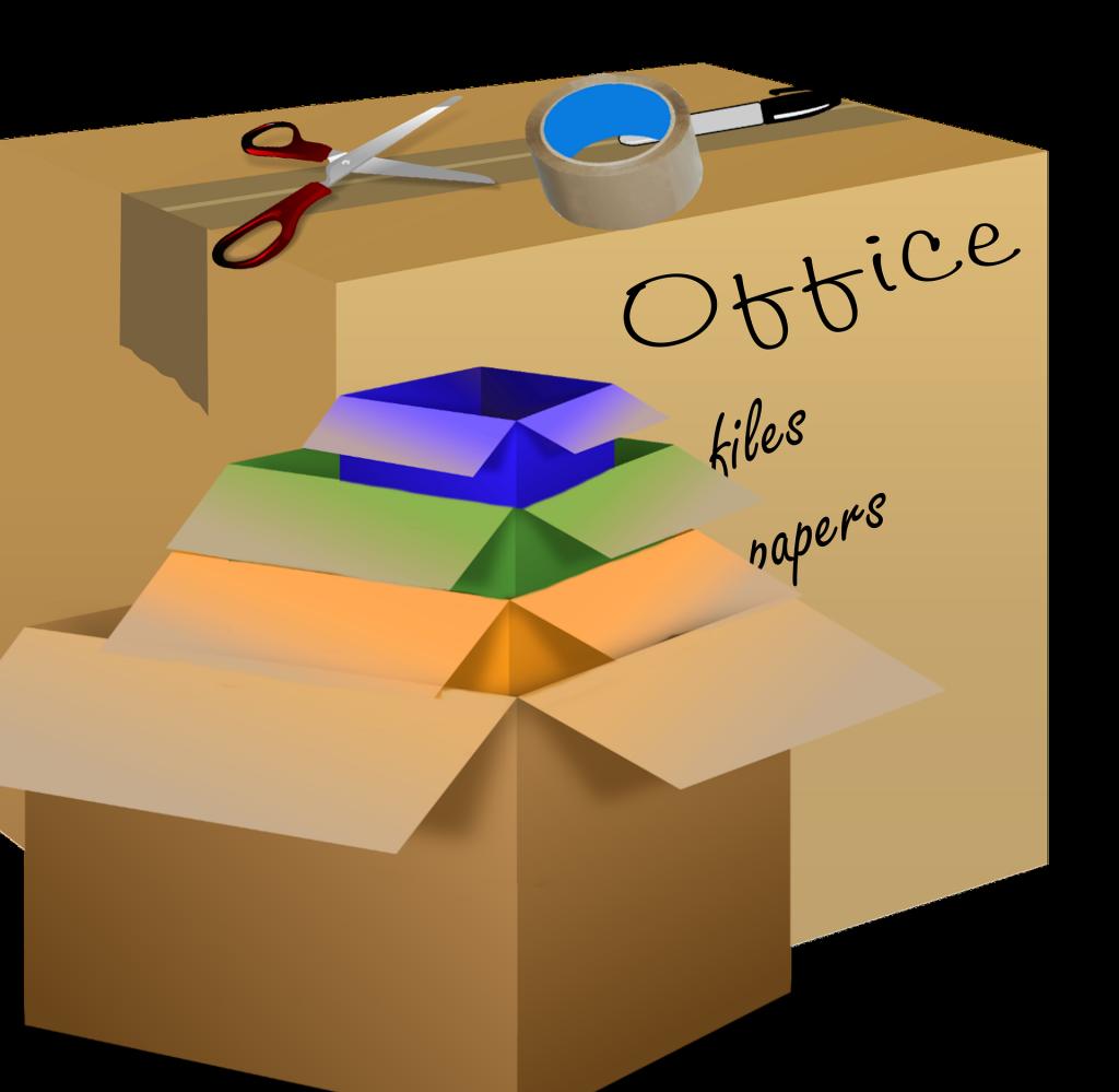Označení krabic podle jednotlivých místností